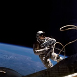 Astronaut Edward White Floating Weightless During the First US Spacewalk, June 3, 1965 Photographic Print