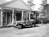 Pres Franklin Roosevelt in Specialized Car at Vacation Cottage at Warm Springs, GA, Nov 23, 1935 Photographic Print