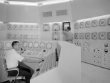 Technicians in a Nuclear Reactor Control Room at NASA&#39;s Plum Brook Station in Sandusky, Ohio, 1959 Photographic Print