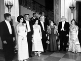 Pres John and Jacqueline Kennedy at Dinner Honoring Executive and Judicial Heads of Government Photo