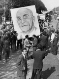 Iranians, Demonstrating in Favor of the Nationalist Premier Mohammed Mossadegh, in 1953 Photo