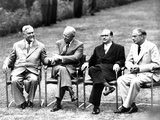Cold War Summit Meeting of the 'Big Four' in Geneva, Switzerland Photographic Print