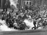 Tear Gas Disperses Crowd on Kent State University Commons Photo