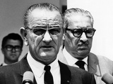 President Lyndon Johnson with Supreme Court Nominee, Thurgood Marshall Photographic Print