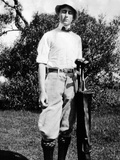 Young Franklin Roosevelt at on a Golf Course at Age 17, ca 1899 Photographie