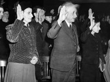 Albert Einstein Taking His Oath of Citizenship Photo