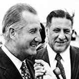 VP Spiro Agnew with Mayor Frank Rizzo at Philadelphia's Airport Fotografía