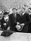 Babe Ruth and Former President Herbert Hoover at a Stanford Vs University of Southern California fo Photographic Print