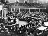 President Eisenhower Delivers His First State of the Union Message Photographic Print
