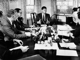 President John Kennedy Held a Meeting on Foreign Trade at Hyannis Port Photographie