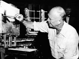 Republican Presidential Nominee, Dwight Eisenhower Painting in Fraser, Colorado Photo