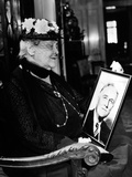 Sara Delano Roosevelt Admiring a Picture of Her Son, Pres Franklin Roosevelt, ca 1935 Poster