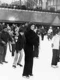 Jacqueline Kennedy Onassis Ice Skating at Rockefeller Center, New York City, Sept 9, 1970 Photo