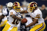 Washington Redskins and Dallas Cowboys NFL: Robert Griffin III and Alfred Morris Lmina fotogrfica por Matt Strasen
