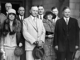 Republican Nominee Hoover Heads the Greeting Party for President and Mrs Coolidge Photo