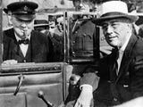 'Victory Is Everywhere,' Said Winston Churchill as He Greeted President Franklin Roosevelt Photo