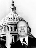 House Republican Leader Gerald Ford Flashes a Victory Smile Photographic Print