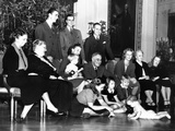 Franklin Roosevelt's Christmas Family Photo at the White House, 1939 Photographic Print