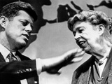 Eleanor Roosevelt and Sen John Kennedy in a Public Appearance at Brandeis University Photographic Print