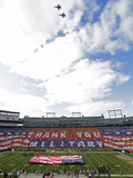 Green Bay Packers and Arizona Cardinals NFL: Lambeau Field - Thank You Military Photographic Print by Jeffrey Phelps
