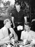 Pres Franklin Roosevelt with Actress Katherine Hepburn at Val-Kil Cottage at Hyde Park Estate Photo