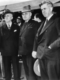 Powerful FDR Advisor James Byrnes, Vice Pres Harry Truman and Former FDR Vice Pres Henry Wallace Photo