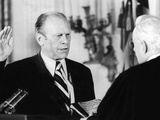 Gerald Ford Takes the Oath of Office as the 38th President of the United States Photo
