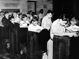 Boys Town Citizens Bow their Heads in Prayer for the Father Flanagan Posters