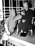 Dwight Eisenhower at His Mother's Knee Fotografie-Druck