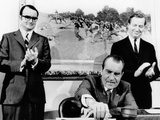 President Richard Nixon Signs Far Reaching Anti-Pollution Legislation Photo