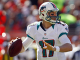 Seattle Seahawks and Miami Dolphins NFL: Ryan Tannehill Photo av Gerry Broome