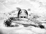 Pres Ford Swimming in Backyard Pool in Alexandria, Virginia, Three Days after He Assumed Presidency Photographic Print