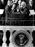 President Johnson Takes the Oath of Office at His 1964 Inauguration Photo