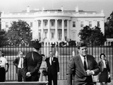 President John Kennedy in Front of the White House Photo