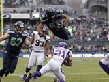 Seattle Seahawks and Minnesota Vikings NFL: Golden Tate Fotografisk trykk av Elaine Thompson