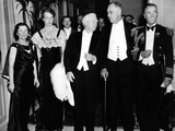 Pres Franklin and Eleanor Roosevelt, Dinner Guests at Vice-Pres and Mrs Garner Hotel Apartment Photographic Print