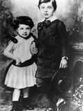 Albert Einstein, About Five Years Old, with His Younger Sister Maja, ca 1885 Photographic Print