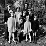 Senator-Elect Robert Kennedy and Wife Ethel with Seven of their Eight Children Photo