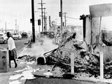 Aftermath of 2 Days of Rioting, Burning, and Looting in Watts Photographic Print