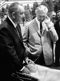 President Lyndon Johnson Gives German Chancellor Kurt Georg Kiesinger a Tour of White House Grounds Posters