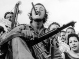 Guerrilla Soldier Enters Havana with Castro's Victorious Rebel Forces on Jan 8, 1959 Photographic Print