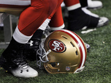 San Francisco 49ers New Orleans Saints NFL: San Francisco 49ers Helmet Photographic Print by Bill Feig