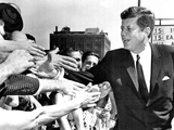 President John Kennedy Shakes Hands as He Arrives at Independence Hall, July 4, 1962 Photographic Print