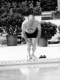 President Ford Swimming in the New White House Swimming Pool, July 5, 1975 Photographic Print