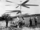 1912 'Helicopter' Designed by German Engineer, Otto Baumgaerte Photographic Print