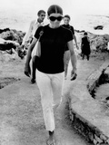 Jacqueline Kennedy Onassis on Vacation in Capri, Italy Photographic Print