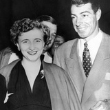 Margaret Truman and Joe DiMaggio at the Fights Photo