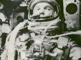 Astronaut John Glenn in Earth Orbit Photographie