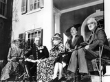 Franklin D Roosevelt Entertained Crown Prince Olav and Crown Princess Martha, of Norway Photographic Print