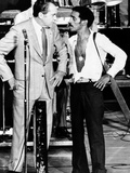 President Richard Nixon and Comedian Sammy Davis, Jr, on Stage at Miami's Marine Stadium Lámina